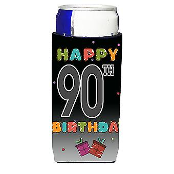 Happy 90th Birthday Ultra Beverage Insulators for slim cans