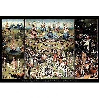Hieronymus Bosch iloitsee Puutarha maallinen Delights juliste Juliste Tulosta