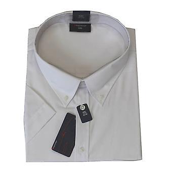 Espionage Plain Short Sleeve Button Down Collar Shirt