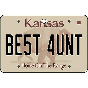 Kansas - Best Aunt License Plate Car Air Freshener