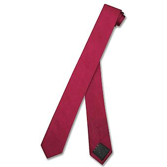 "100% SILK Narrow NeckTie EXTRA Skinny Men's 1.5"" Neck Tie"