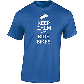 Keep Calm And Ride Bikes Kids Unisex T-Shirt 8 Colours (XS-XL) by swagwear