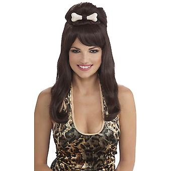 Prehistoric Princess Bone Cavewoman Jungle Jane Women Costume Wig