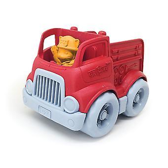 Groen speelgoed Mini Fire Truck speelgoed voertuig met figuur BPA vrije 100% gerecycled