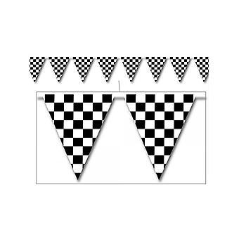 Checkered Außen Pennant Bunting
