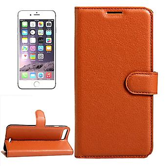 Kieszeń na portfel Deluxe Braun dla Apple iPhone 8 plus i 7 plus 5,5 cala ochronny Pokrowiec etui