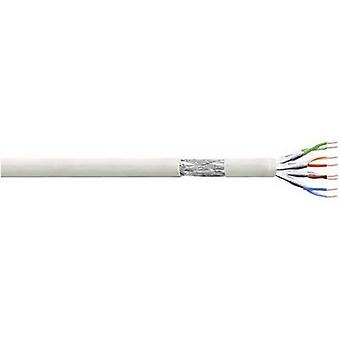 Cable LogiLink CP2100S red 4 de S/FTP CAT 6 x 2 x 0.10 mm² gris 100 m