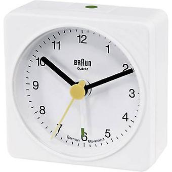 ブラウン 66001 クオーツ目覚まし時計ホワイト アラーム 1 回