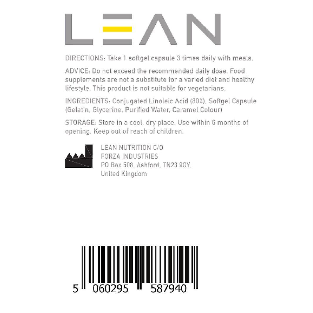 LEAN Nutrition CLA 1000mg - 180 Softgel Capsules