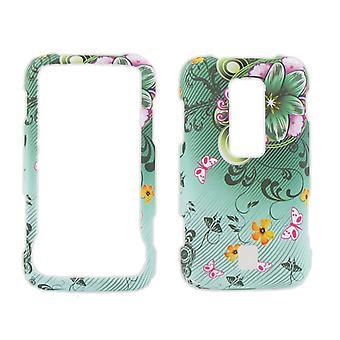 Snap-On cas pour Huawei Ascend M860 (Floral vert)