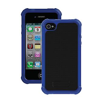 Etui Gel balistique pour Apple iPhone 4 / 4 s (bleu foncé/noir)