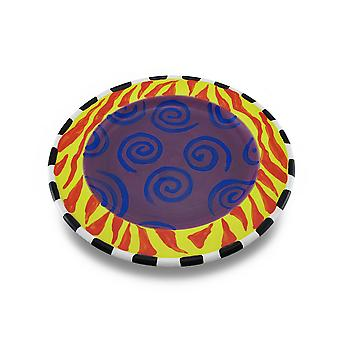 Colorful Round 9 Inch Ceramic Dessert / Salad Plate