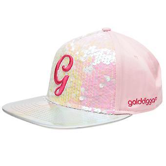 Golddigga bambini ragazze Snapback Junior Flat Peak Cap ventilazione pannello Design