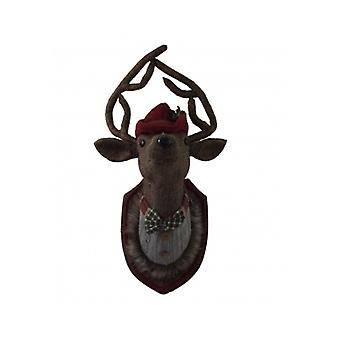 Gisela Graham Tweed Stag Head Plaque