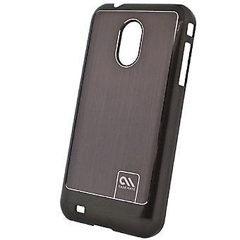 Case-mate alumínio escovado mal há caso para Samsung TRENDER SPH-M380 (preto/prata)