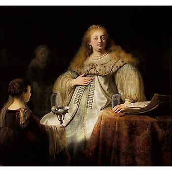 Artemisia, REMBRANDT Harmenszoon van Rijn, 50x50cm