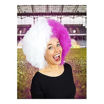 Partisan de perruques perruque violet blanc