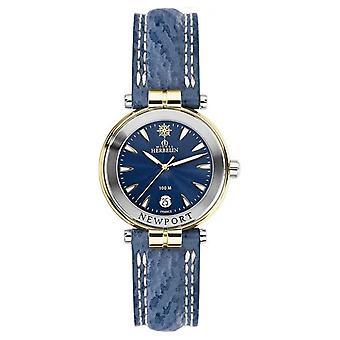 Michel Herbelin naisten Newport Blue Strap kullattu 14255/t35 Watch