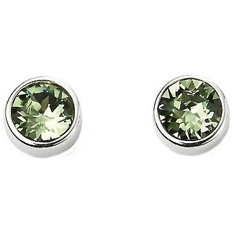 Beginnings August Swarovski Birthstone Earrings - Silver/Green