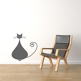 Siamese Fat Cat Wall sticker V1