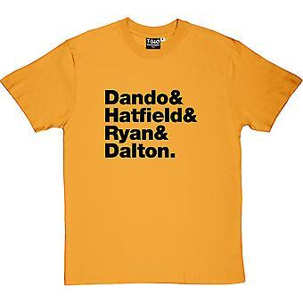 The Lemonheads Line-Up Yellow Men's T-Shirt