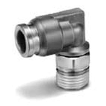 SMC Pneumatic Elbow Threaded-To-Tube Adaptateur, R 1/4 Mâle, Push In 6Mm