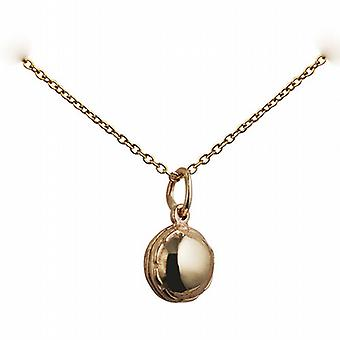 9ct Gold 10mm solid Cricket Ball Pendant with a cable Chain 20 inches