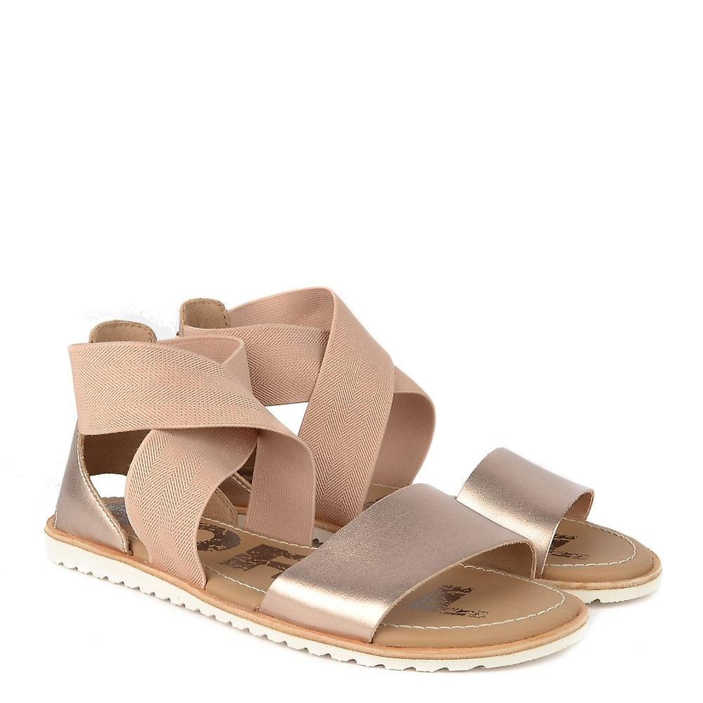 Sorel Ella Warm Gold Flat Sandal