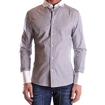 Bikkembergs Ezbc101031 Men's Grey Cotton Shirt