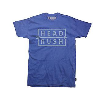Headrush Mens HR Arrow T-Shirt - Blue - street mma training