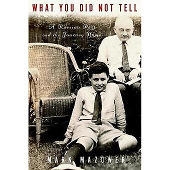 What You Did Not Tell - A Russian Past and the Journey Home by Mark Ma