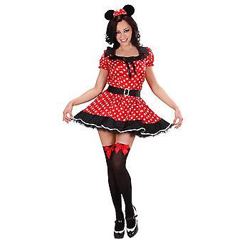 Muis meisje kostuum (jurk W/Petticoat oren)