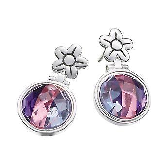 KAMELEON JewelPop Hinged Flower Post Sterling Silver Earrings KE44