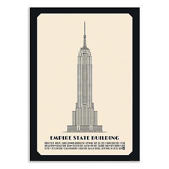 Kunst-poster-Empire State Building-Lionel de Pauw 50 x 70 cm