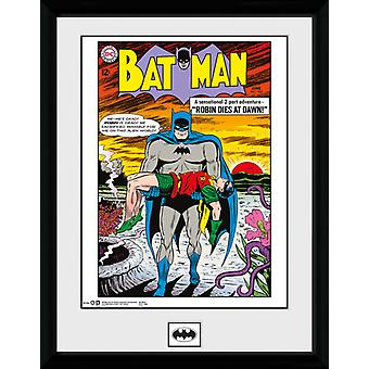 Batman Comic Robin stirbt im Morgengrauen gerahmt Collector Print 40x30cm