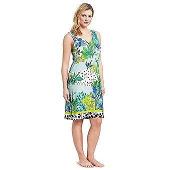 Féraud 3195324-16526 Women's Voyage Sealeaves Blue Kaftan Beach Dress