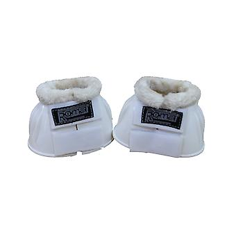 Roma Fleece Trim Rubber Bell Boots - White/white