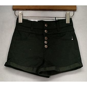 Tinseltown Shorts Four Pocket Rolled Cuffs Casual Green Womens