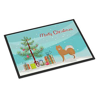 Brown & White Elo dog Christmas Tree Indoor or Outdoor Mat 24x36
