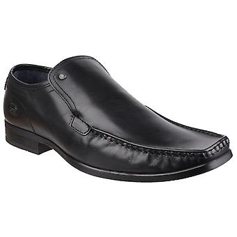 Basis London Mens Carnoustie Excel Waxy Slip on Shoe Black wasy