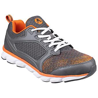Amblers Safety Unisex AS707 Lightweight Non Leather Safety Trainer Gris/Orange