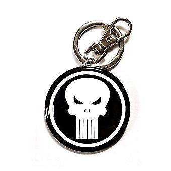 Marvel Schl3sselanh'nger The Punisher Skull -logo musta, metallinen, karabiinilla.