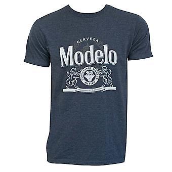 Modelo Crest Logo Blue Tee Shirt