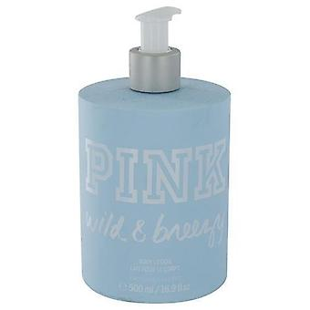 Victoria's Secret Pink Wild & Breezy Lotion 16 oz / 500 ml (2 Pack)