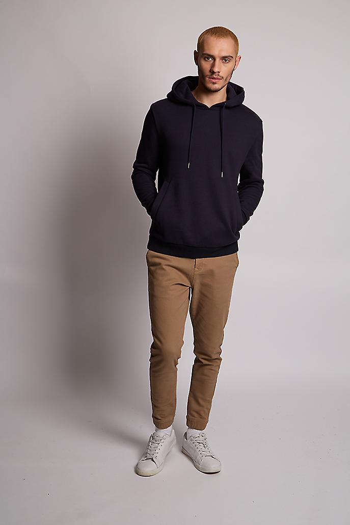 Hymn Toad Woodland Embroidered Hoodie Navy