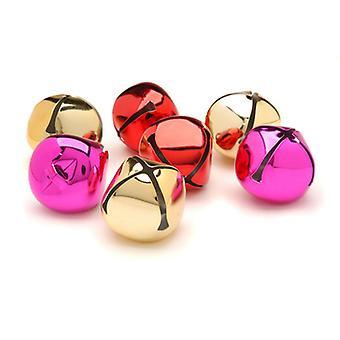 8 Gold, Red & Pink 35mm Jingle Bells for Crafts | Craft Bells