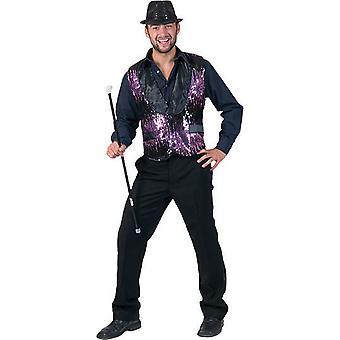 Afficher Sequin Sequin Sequin Costume homme Charleston Circus Director Presenter Men's Vest