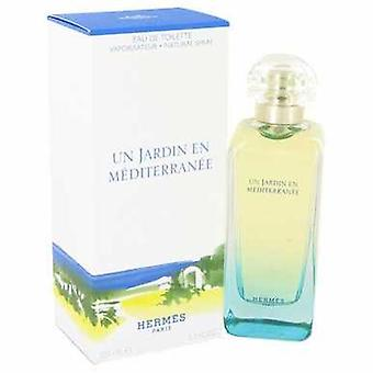 Un Jardin en Mediterranee av Hermes Eau de Toilette Spray (unisex) 3,4 oz (damer) V728-415845