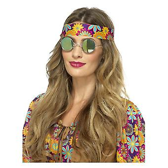 Hippie Brille Brille gespiegelten Fancy Dress Zubehör