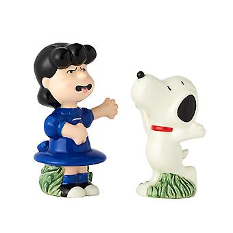 Salt & Paper Shaker - Peanuts - Lucy & Snoopy Ceramic New 6001032